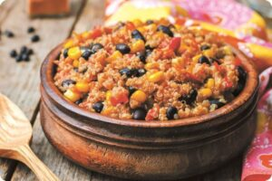 black bean corn quinoa chilli
