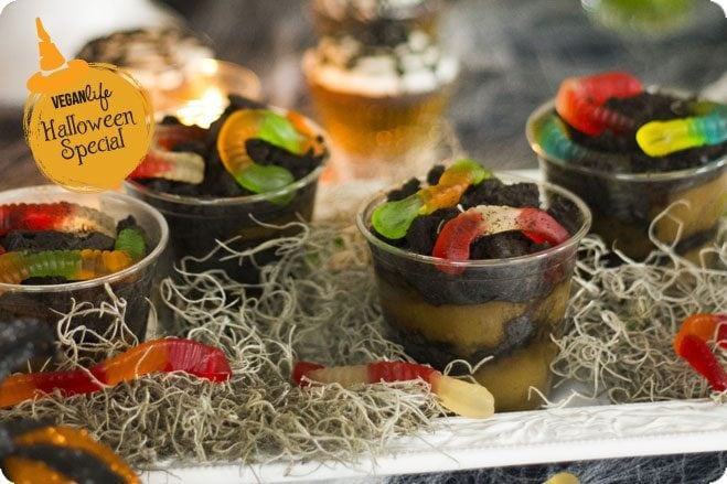 halloween avocado dirt pudding
