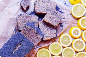 lemon poppy seed cake vegan baking