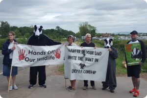 Badger anti-cull protest in Malvern 2