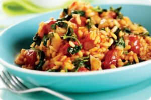 tomato watercress risotto family