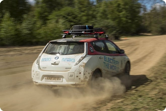 EV Nissan LEAF Competes In Mongol Rally 2017