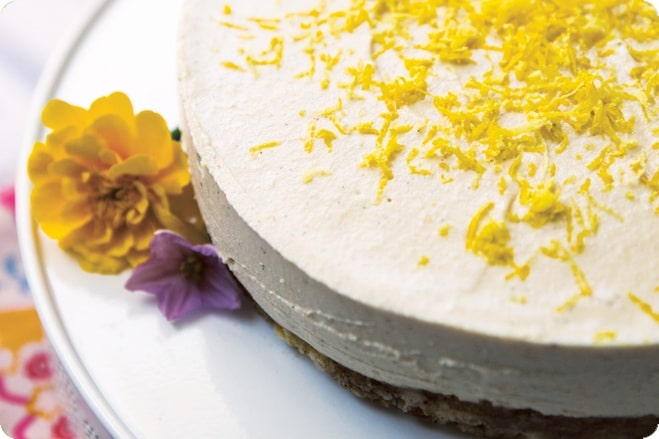 edible pharmacy vegan lemon cheesecake