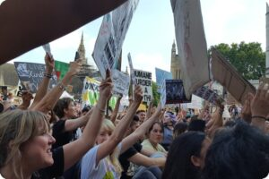 Stopping Traffic For The Animals - SURGE's Animal Rights March 11