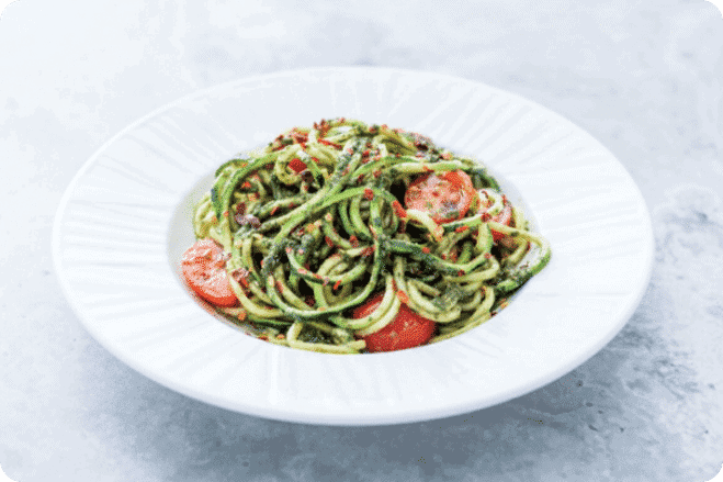 Pesto Courgetti & Chilli