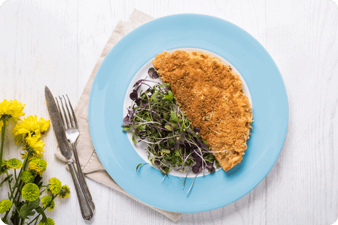 Smoked Tofu and Sweetcorn Crispy Pancakes