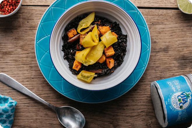 Sticky Coconut Black Rice with Mango and Lime 1