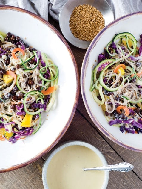 Soba Noodles with Chickpeas & Ginger-Miso Dressing 1