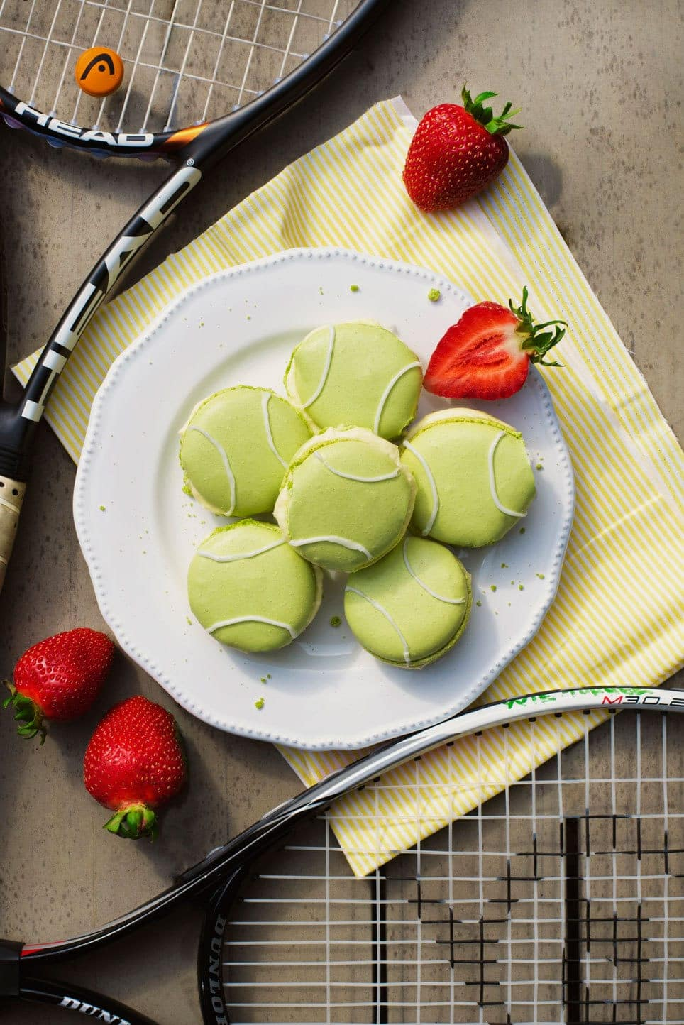 Tennis Ball Macarons 1