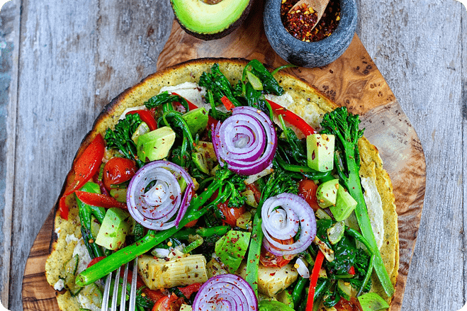 Healthy One-Pan Wrapizza