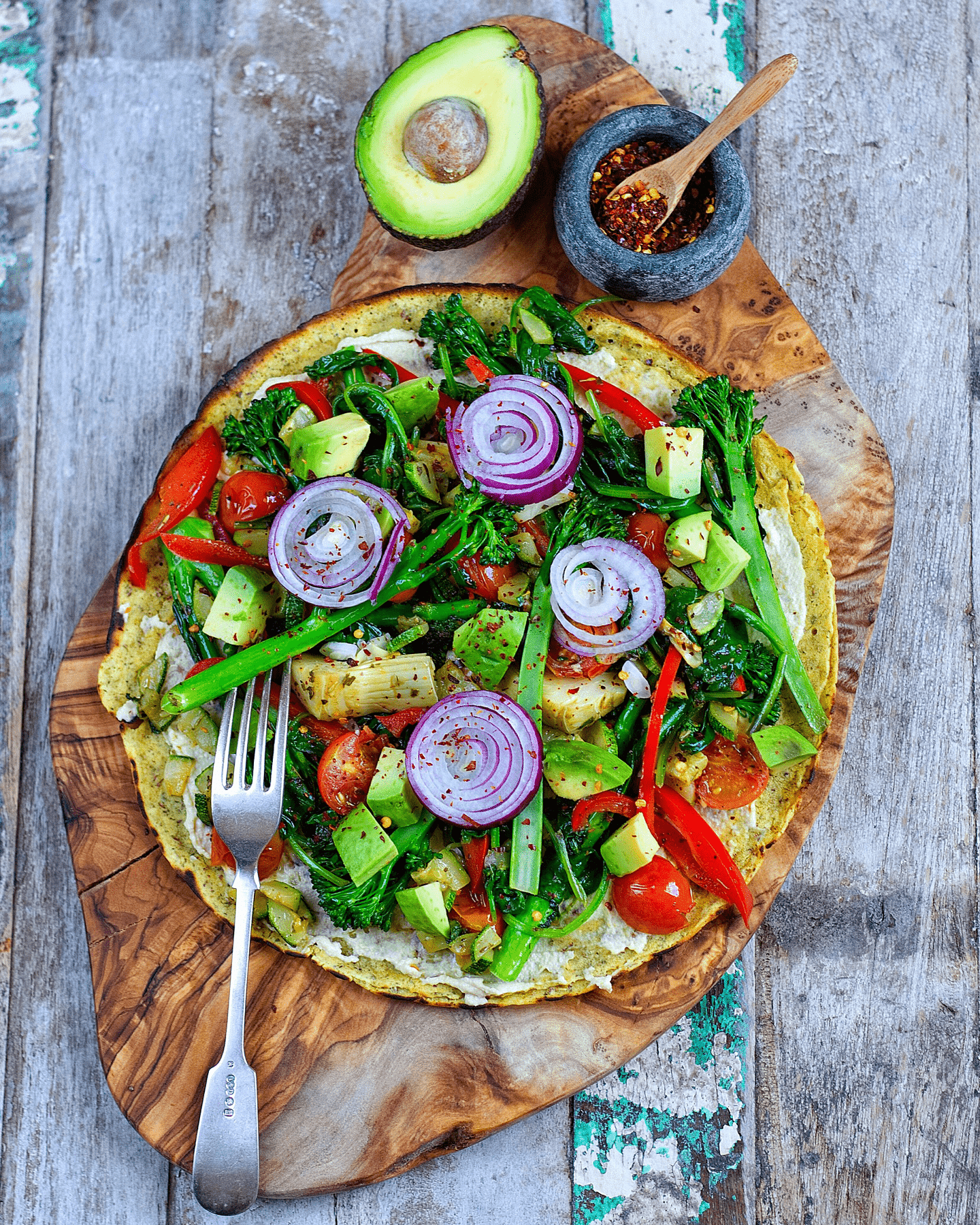 Healthy One-Pan Wrapizza 1