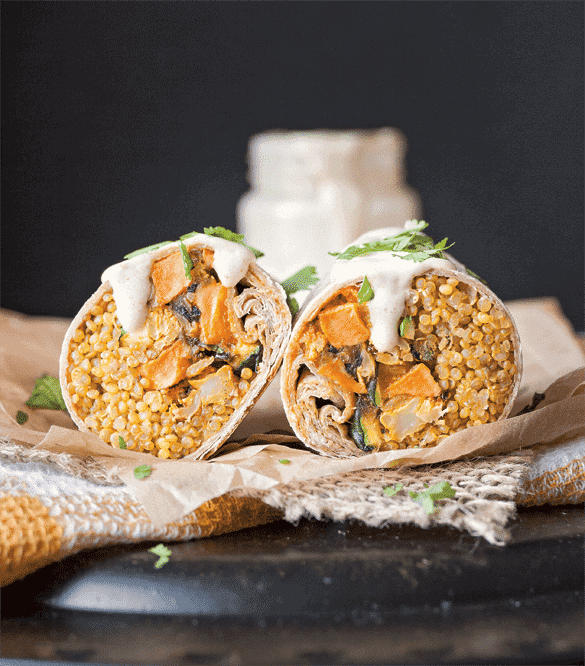 Tangy Curried Cauliflower Burrito 1