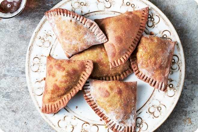 Curried Chickpea & Pine Nut Pasties