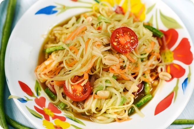 Spicy Papaya Salad - Somtam