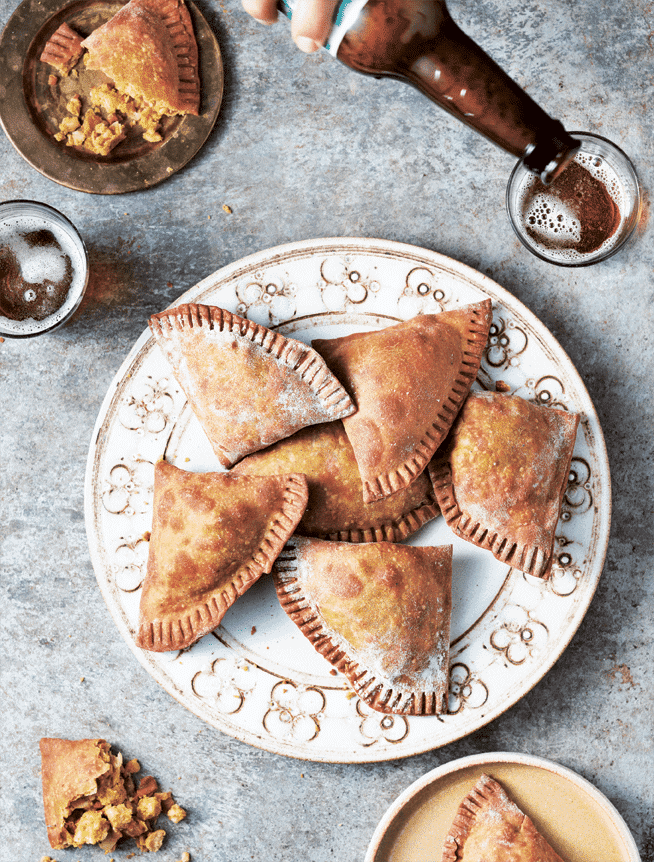 Curried Chickpea & Pine Nut Pasties 1