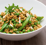 Pea, Sacla' Pesto, Farro and Lemon Salad 1