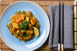 Salt and Pepper Tofu with Singapore Noodles 8