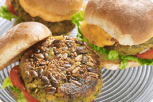 Sweet Potato Burgers with Sacla' Mayonnaise 8