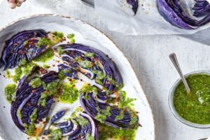 Roast Red Cabbage with Parsley Pesto Dressing 21