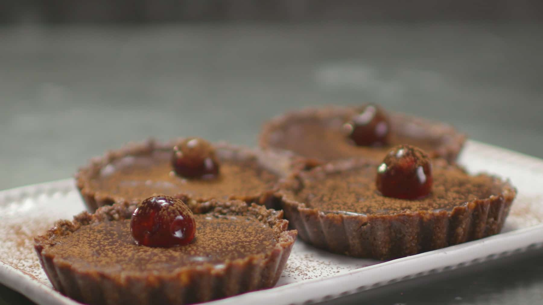 Chocolate cherry tarts 1