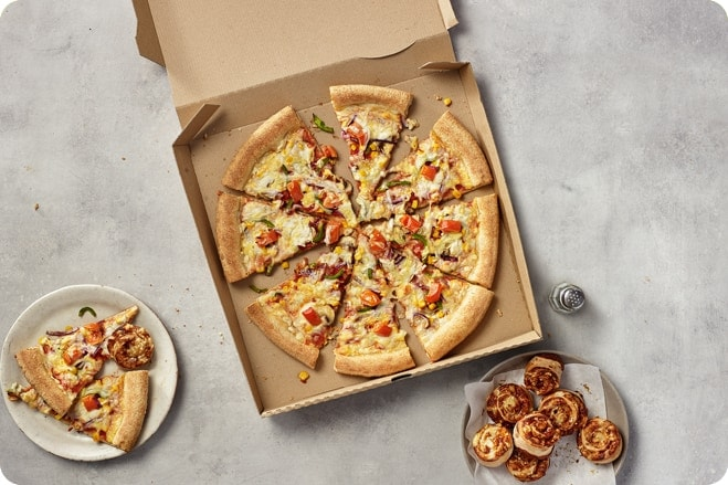 Papa John's vegan pizza launching 28th January 1