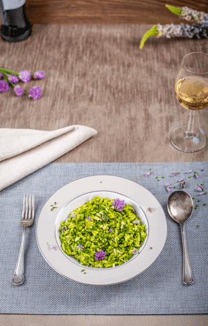 Chive and Almond Pesto with Orzo