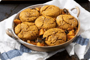 Green Lentil, Kale and Sweet Potato Chilli with Biscuits 6