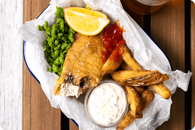 Beer Battered Tofish and Chips
