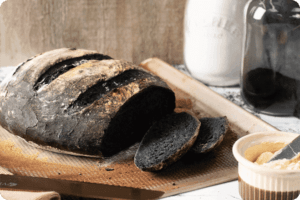 Cheat's Charcoal Sourdough