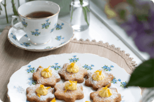 Gluten-Free Orange Shortbread Flowers