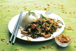 Kangkung Goreng Stir-Fried Spinach with Tofu & Pineapple 1