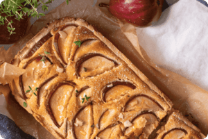 Pear and Thyme Frangipane Tart