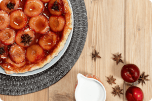 Plum and Star Anise Tarte Tatin