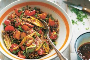 Puy Lentil Salad with Roasted Vegetable