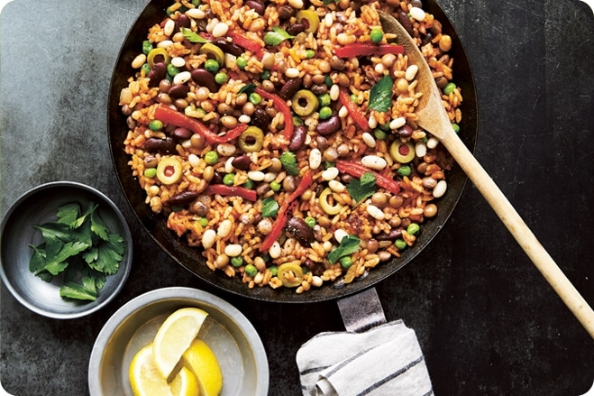 Three Bean Paella