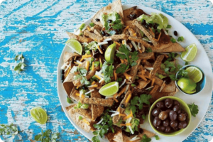 Mexican Chicken-Style Topped Nachos
