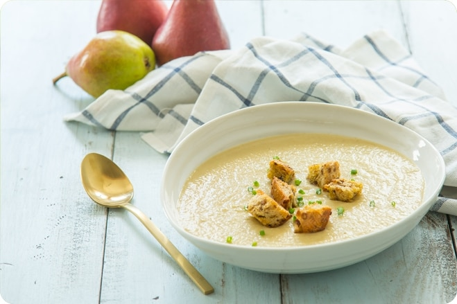 Roasted Parsnip Pear Soup