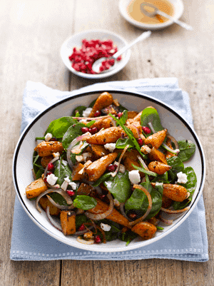 Moroccan Roasted Sweet Potato and Carrot Salad 1