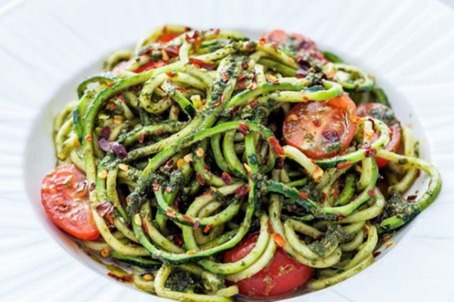 Pesto Courgetti And Chilli