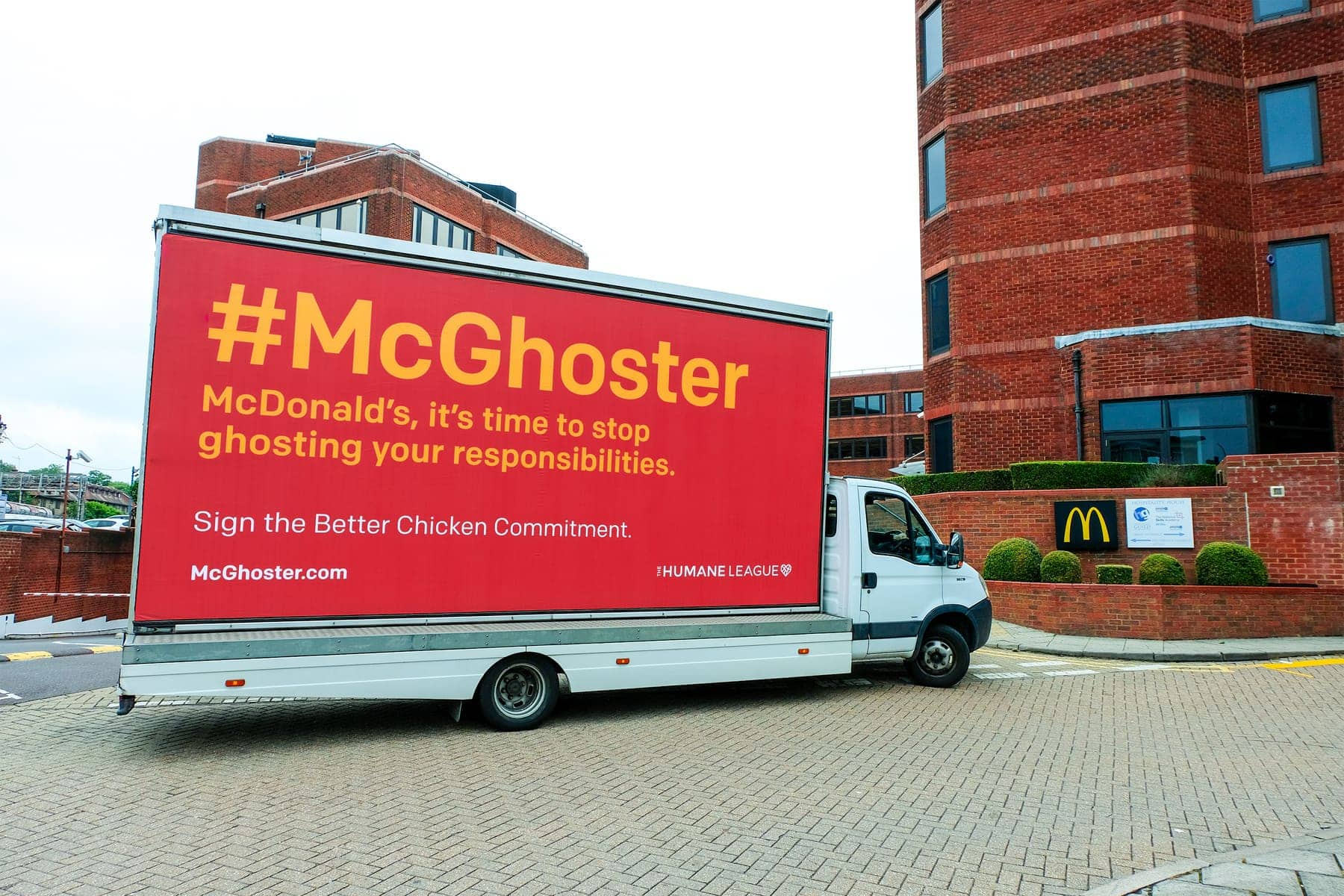 campaign van for #McGhoster