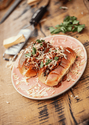 DJ BBQ's Plant-Based Chilli Dogs