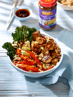 Soy and Hoisin Glazed Tofu Protein Bowl