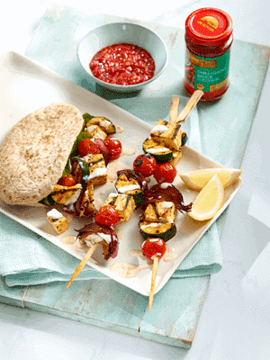 Tofu and Vegetable Kebab Skewers