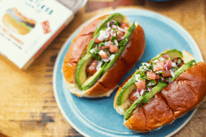 DJ BBQ's Salsa and Avocado Hot Dogs