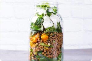 Tandoori Roasted Cauliflower, Lentil and Kale Jar