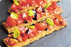 Raw Tomato and Basil Bruschetta