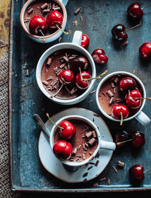 Cherry Chocolate Ganache Espresso Pots 1