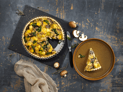 Vegan Quiche with Leeks and Mushrooms 1