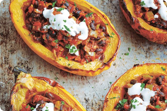 Squash and Black Bean Chilli