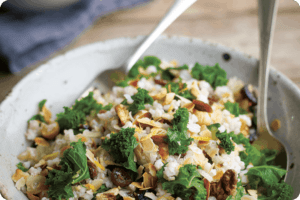 Kale, Fruit & Nut Pilaf